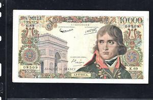 Billet 10000 Francs Bonaparte 06/06/57 TTB+ Fay 51-08
