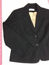 Ladies Black Blazer Jacket Size 16 Lined Smart Work Office Dot Pattern
