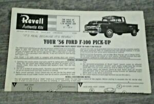 "Revell H-1283"" 56 Ford Pickup "" Original Model Car Instruction sheet from 1962"