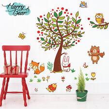 Grand Arbre autocollant mural chambre bébé,Stickers Muraux Enfants En Vinyle,Mur