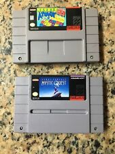 Mystic Quest & Tetris Attack Lot Super Nintendo SNES,1992)100% Orig. Authentic