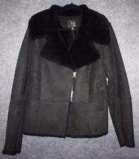 6th and lane Shearling moto jacket by Lane Bryant Black Plus Size 14/16