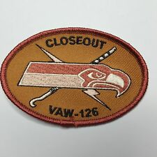 U.S. Navy vaw-126 seahawks closeout Desert Patch Patch