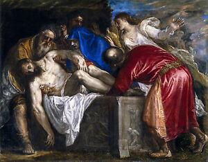 Titian - The Entombment of Christ, 1559, Jesus Art Poster, Museum Canvas Print