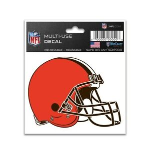 """CLEVELAND BROWNS 3""""X4"""" MULTI-USE DECAL PERFECT FOR CAR WINDOWS"""