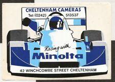 CHELTENHAM CAMERAS RACING WITH MINOLTA F2 ORIGINAL PERIOD RACE STICKER AUFKLEBER