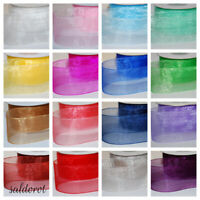 Many Colours PREMIUM Quality * Cut Woven Edge Organza Ribbon 3~6~12~19~25~38mm