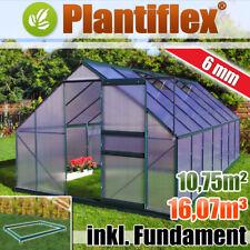 Gewächshaus mit Fundament Garten Alu Treibhaus Frühbeet Tomatenhaus - 6mm - grün