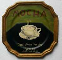 Marco Fabiano Tamsan Hand Painted Porcelain Wall Plate Mocha Discontinued