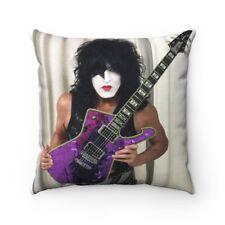 KISS Paul Stanley W / Purple Mirror Iceman Pillow Spun Polyester Square Pillow