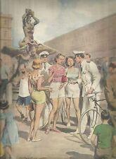 K1000 Guardie intimano alle turiste di cambiarsi d'abito - Stampa antica