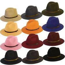 Wool Felt Handmade Fedora Hat