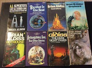 Brian Aldiss Vintage Classic Science Fiction x 8 Books