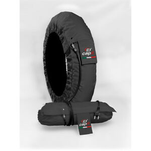 Capit Tyre Warmers Set Suprema Spina Black Front 120-17 Rear 205-16/17 M/XL