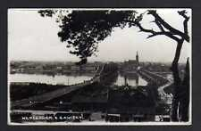 108078 AK Włocławek Wloclawek Leslau z Zawislyl Feldpost 1939 Brücke Behelfsbrüc