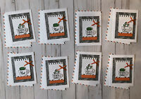 8 Handmade Thanks A Latte A Cup of Cheer Get Well cards decorated envelopes