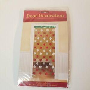 "Dangling Foil Snowflake, 78"", Doorway Decor, Seasons Greetings, Christmas Snow"