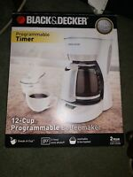 BRAND NEW Black & Decker 12-cup Programmable Coffee Maker White NEVER OPENED!!!!