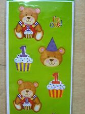 Happy 1st Birthday Bear Children Kids Scrapbooking Stickers 759