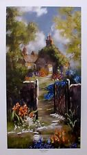 MARTY BELL ALLERFORD GARDEN Hand Signed & Hand Painted Ltd Edition Lithograph