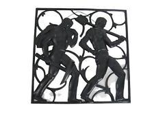 Kunstguss Eisenguss Relief Entwurf Heinrich Moshage 30,5 x 30,5 cm