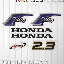 Honda 2.3 hp Four Stroke outboard engine decal sticker set kit reproduction