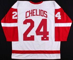 Chris Chelios Signed Detroit White Red Wings (JSA COA) NHL Hall of Fame 2013