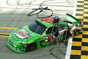 Dale Earnhardt Jr. & Jimmie Johnson Dual Signed Auto Taladega 4x6 Photo