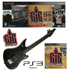 PS3 POWER GIG Guitar Bundle Set Rise of the SixString Kit playstation-3 electric