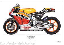 Dani pedrosa 2014 ltd.ed. art print/250 Repsol Honda RC214V