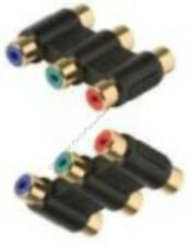Lot10RGB Component Coupler,Triple RCA Female~F Jack Adapter,Cable/Cord Extension