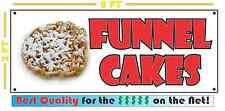 Full Color FUNNEL CAKE BANNER Sign NEW XXL Size for Fried Fair Pop Corn Carmel