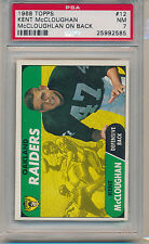 1968 Topps Football Kent McCloughan (McCloughlan On Back) (#12) PSA7 PSA