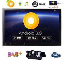"""Android 8.0 Oreo Octa Core Double 2Din HD 10.1"""" GPS Car Stereo DVD Radio Nav DAB"""