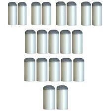 20 Assorted Slip Push On Pool Cue Press Tips 7 Sizes