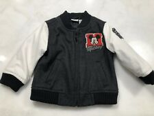 Disney Mickey Varsity Bomber Baby boys Jacket size 12 month Wool & faux leather