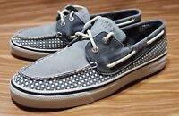 SPERRY TOP SIDER 2 EYE GRAY CANVAS WOMENS BOAT SHOES 7.5 M