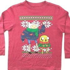 Adventure Time Christmas Long Sleeve Youth L T-Shirt Large Boys Kids Old Navy