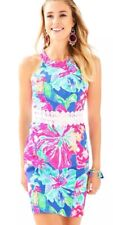 NWT Lilly Pulitzer Ashlyn Lace Shift Dress In Beckon Blue Jungle Utopia Size 12