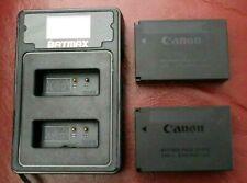 100% Genuine Original CANON LP-E12 Battery for EOS M50 x 2 + BATMAX USB Charger