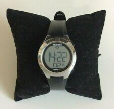 Armitron Watch Silver Tone Round Face Black Strap