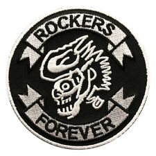 ROCKERS FOREVER CAFE RACER EMBROIDERED BIKER PATCH
