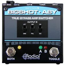 Radial Engineering Bigshot ABY True Bypass Switcher Amp Guitar Selector Pedal