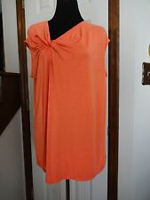 New! Nancy O'Dell  Orange Knit Top    Size XL