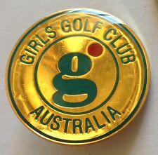 Girls Golf Club Australia Pin Badge Rare Vintage (E4)