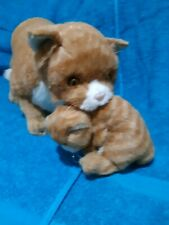 "Vintage 1985 Applause Avanti Orange Tabby Cat w/ Kitten Plush 25"" Nice!"