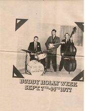 BUDDY HOLLY: TRIBUTE WEEK (sponsored by Paul McCartney's MPL) full-page Mel-Mk'r
