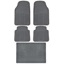 Eco-Tech MotorTrend Floor Mats Car SUV w/ Cargo Liner Gray 5 PC Odorless