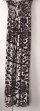 Internacionale Ladies Stretchy Maxi Dress - Brown Leopard Print - One Size