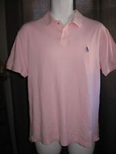 Classic Fit Penguin by MUNSINGWEAR light pink polo shirt top Mens M